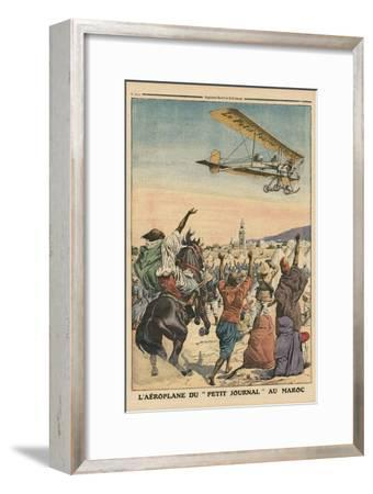 The 'Petit Journal' Airplane Flying over Morocco