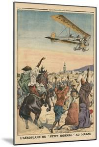 The 'Petit Journal' Airplane Flying over Morocco by French School