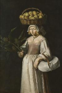 The Vegetable Seller by French School
