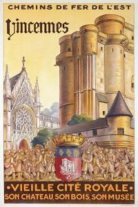 Travel Poster of the Chemin de Fer de l'Est Advertising Trips to Vincennes, c.1920 by French School