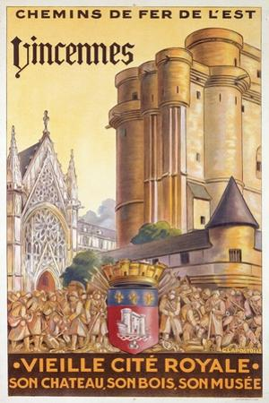 Travel Poster of the Chemin de Fer de l'Est Advertising Trips to Vincennes, c.1920