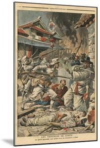 Unrest in Seoul, Korea, Illustration from 'Le Petit Journal', Supplement Illustre, 4th August 1907 by French School