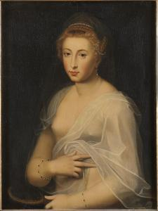Young Lady Holding a Mirror by French School