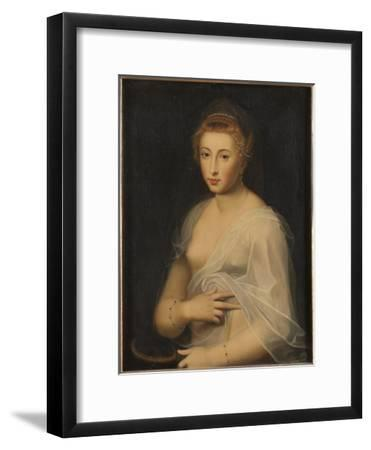Young Lady Holding a Mirror