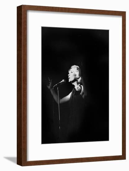 French Singer Betty Mars on Stage in Bobino, Paris, February 1972--Framed Photo
