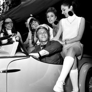 """French Singer Jacques Dutronc for Launching of """"Siata Spring"""" Car, 25 May 1967"""