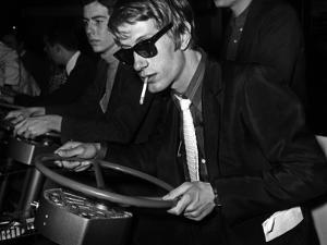 French Singer Jacques Dutronc in Miniland, Paris, 17 March 1967