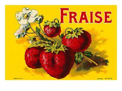 French Strawberries--Art Print
