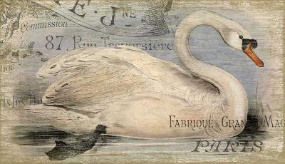 French Swan--Wood Sign