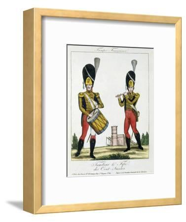 Swiss Guard, Tambour and Fife Players, C.1790 (Colour Litho)