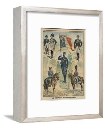 The Flag of the Gendarmes, Front Cover Illustration from 'Le Petit Journal', Supplement Illustre