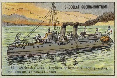 French Torpedo Boat, 1905--Giclee Print