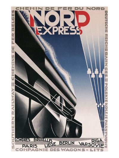 French Train Poster--Art Print
