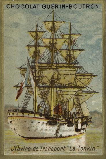 French Transport Ship Tonkin--Giclee Print