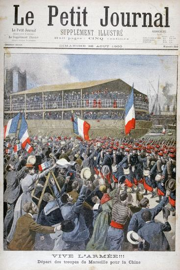 French Troops Embarking for China, 1900-Eugene Damblans-Giclee Print