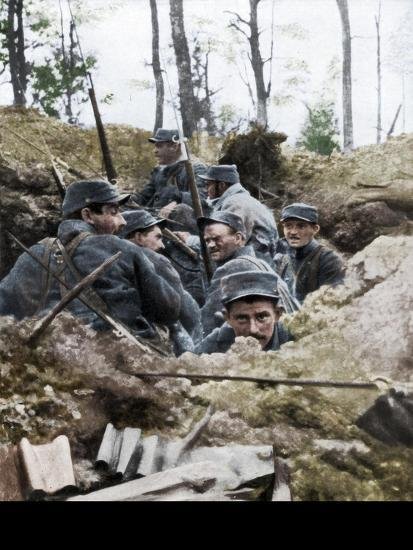 French troops in the trench system of Calonne, France, July 1915-Unknown-Giclee Print