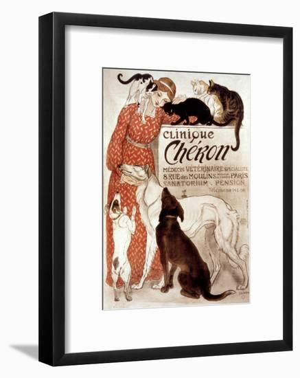French Veterinary Clinic-Théophile Alexandre Steinlen-Framed Giclee Print