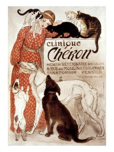 French Veterinary Clinic-Th?ophile Alexandre Steinlen-Giclee Print