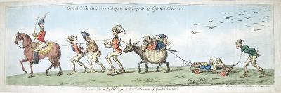 French Volunteers, Marching to the Conquest of Great Britain, Published by Hannah Humphrey in 1799-James Gillray-Giclee Print