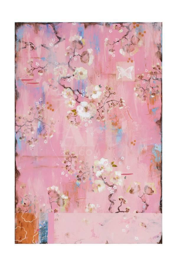 French Wallpaper Pink Premium Giclee Print By Kathe Fraga Art Com