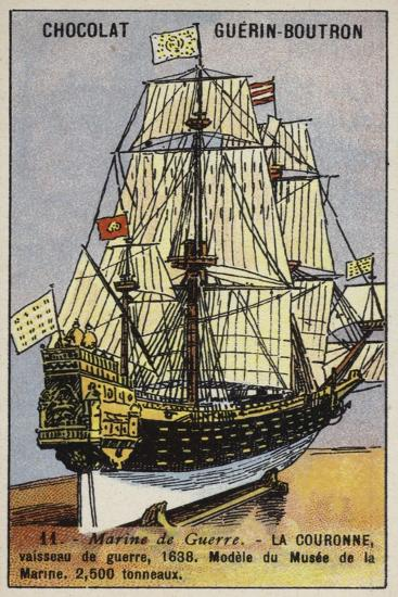 French Warship Couronne, 1638--Giclee Print
