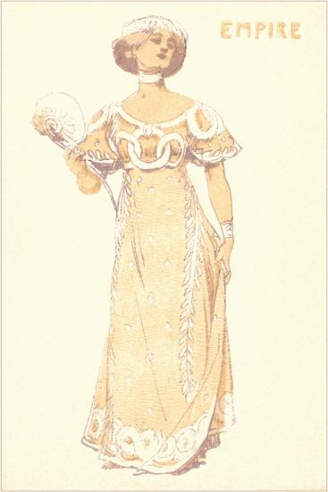 French Women's Fashion, Empire-Found Image Press-Giclee Print