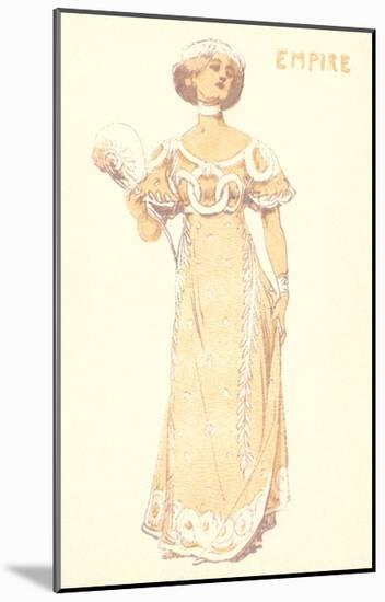 French Women's Fashion, Empire-Found Image Press-Mounted Giclee Print