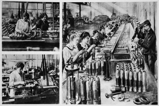 French Women's Share in the Making of Munitions--Giclee Print