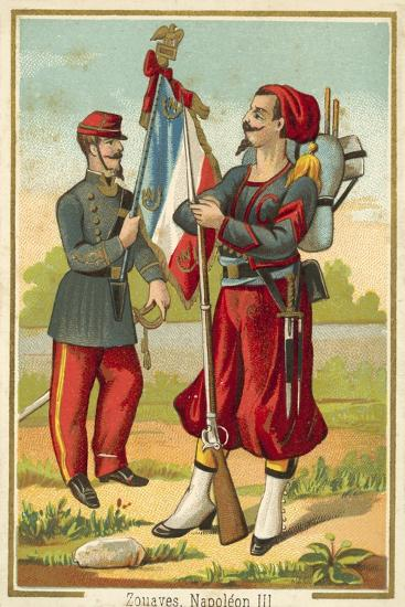 French Zouaves of the Time of Napoleon Iii--Giclee Print