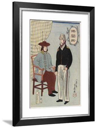 Frenchmen, January 1861-Utagawa Yoshiiku-Framed Giclee Print
