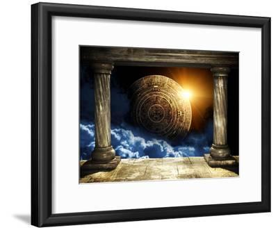Frame With Two Old Columns And Maya Calendar by frenta