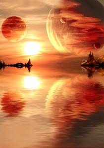 Landscape In Fantasy Planet by frenta