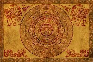 Maya Calendar On Ancient Parchment by frenta