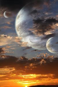 Sunset In Alien Planet by frenta