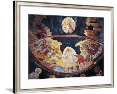 Fresco Depicting Anastasis Christ Raising Adam and Eve from their Tombs--Framed Giclee Print