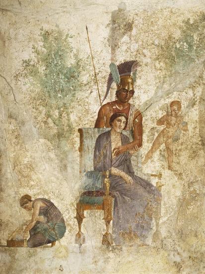 Fresco Depicting Mars and Venus with Love, Pompeii, Campania--Giclee Print