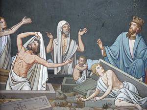Fresco Depicting the Resurrection in Notre Dame De Bayeux Cathedral, Bayeux, Normandy, France