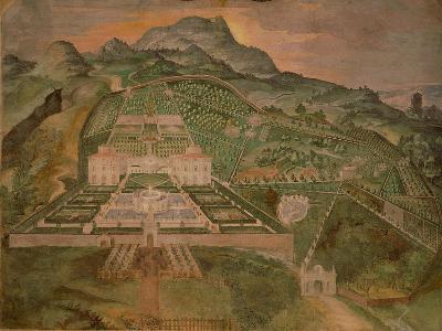 Fresco Depicting Villa Lante, Lodge of Palazzina Gambara of Villa Lante, Bagnaia, Italy--Giclee Print