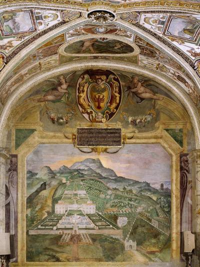 Fresco Depicting Villa Lante, Lodge of Palazzina Gambara, Villa Lante, Bagnaia, Italy, 16th Century--Giclee Print