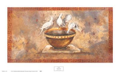 Fresco Doves-Maggie Brown-Art Print