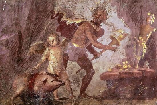 Fresco from Villa of Mysteries, Pompeii, Campania--Giclee Print