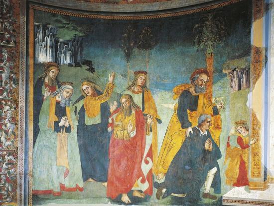 Fresco in Church of Saint Oliva, Cori, Lazio, Italy, 12th-17th Century--Giclee Print