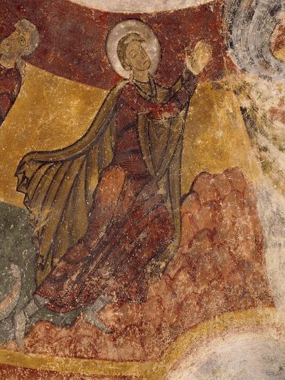 Fresco in Crypt of Church in Saint-Aignan-Sur-Cher, France, 12th Century--Giclee Print