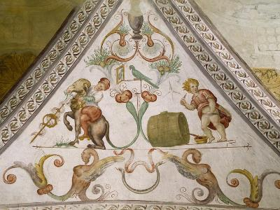 Fresco in Hall of Coat of Arms, Torrechiara Castle, Langhirano, Emilia-Romagna, Italy, 16th Century--Giclee Print