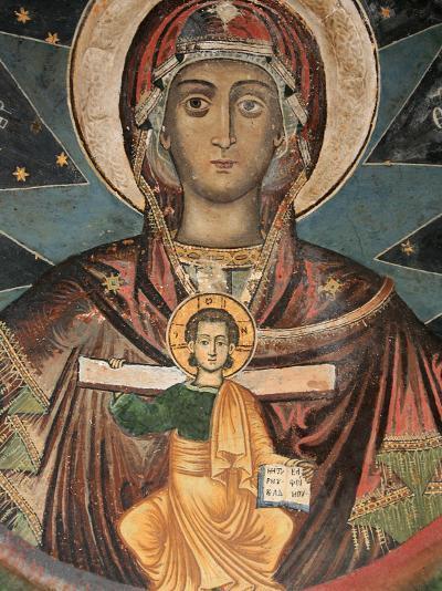 Fresco in Koutloumoussiou Monastery on Mount Athos, UNESCO World Heritage Site, Greece, Europe-Godong-Photographic Print
