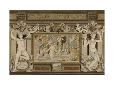 Fresco in the Chateau De Fontainebleau, France, 16th Century--Giclee Print