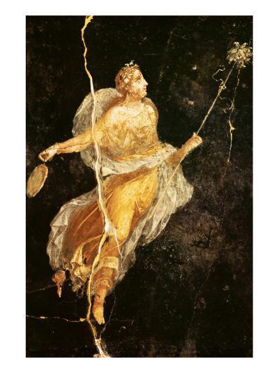Fresco Menade con Tirso e Tamburello--Premium Giclee Print