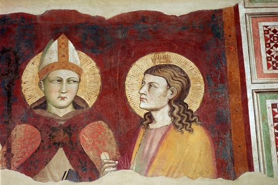 Fresco of a bishop, 14th century-Unknown-Giclee Print