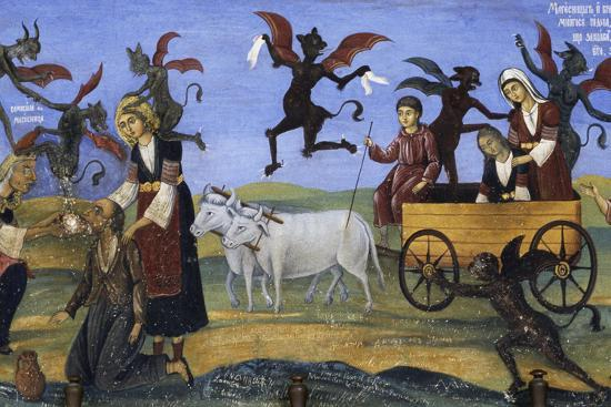 Fresco of the Porch, Rila Monastery--Photographic Print