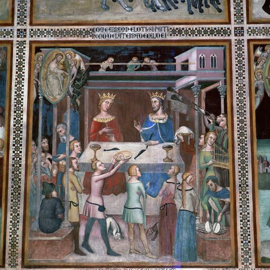 Fresco of the story of Job, 14th century-Unknown-Giclee Print